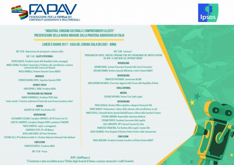 FAPAV/Ipsos - Programma