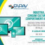 STD | 9 Luglio 2020 | Ricerca FAPAV/Ipsos 2019 sulla pirateria audiovisiva in Italia